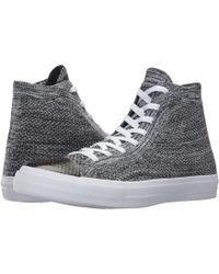 46949972a5b Lyst - Converse Chuck Taylor® All Star® X Nike Flyknit Hi in Gray ...
