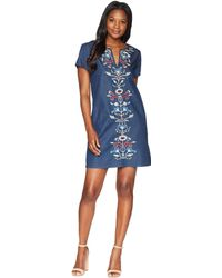Pendleton - Tala Embroidered Cotton Shift Dress - Lyst