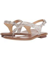 20de14ad0a2f Lyst - Michael Kors Mk Plate Thong Sandals in Metallic