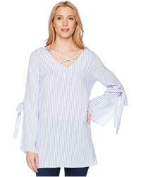 Bishop + Young - Stripe Crossfront Tunic - Lyst
