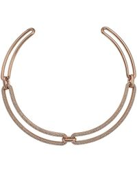 Michael Kors - Iconic Pave Statement Collar Necklace - Lyst