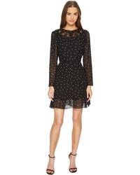 The Kooples - China Crepe Dress With A Queen Of Hearts Print - Lyst