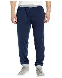 143e664d0 Sweatpants With Contrast Rib Trim (classic Navy) Casual Pants