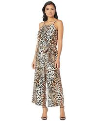 Eci - Animal Printed Loose Fit Jumpsuit (brown) Jumpsuit & Rompers One Piece - Lyst