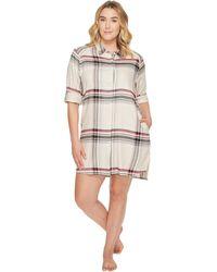 Donna Karan - Plus Size Flannel Long Sleeve Sleepshirt - Lyst