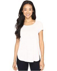 Mod-o-doc | Heather Yarn Dye Stripe Short Sleeve Tee W/ Back Contrast | Lyst