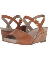 b3345815b996 Lyst - Rockport Weekend Casuals Lanea Quarter Strap in Brown