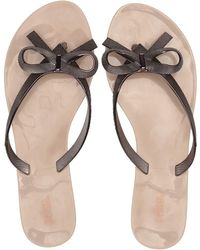 808d6cbcbbf7c Lyst - Melissa Harmonic Garden Patent Sandals in Black