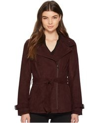 Kenneth Cole - Faux Suede Moto Trench - Lyst