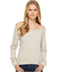 Three Dots - Off Shoulder Sweatshirt - Lyst