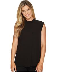 Vince Camuto - Sleeveless Mock Neck Blouse W/ Front Fold - Lyst