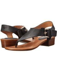 07a131ad4 Lyst - Tommy Hilfiger Women S Lorine Flat Thong Sandals in Black