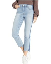Sanctuary - Modern High-rise Crop Jeans With Indigo Shadow In Split Personality - Lyst