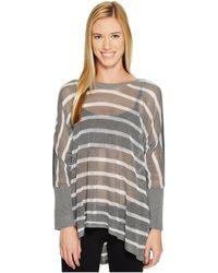 BLANC NOIR - Stripe Drape Sweater - Lyst