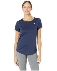 c4517b363503b New Balance Accelerate Short Sleeve Top V2 (pigment) Short Sleeve Pullover