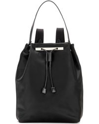 The Row - Backpack 11 Leather-trimmed Backpack - Lyst