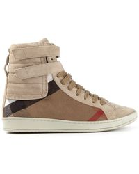 Burberry Brit House Check Hi-top Sneakers - Lyst