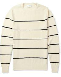 Exemplaire - Striped Cashmere-Piquã© Sweater - Lyst