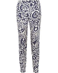Matthew Williamson - Printed Satin Tapered Pants - Lyst