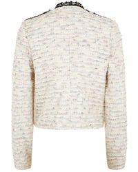Juicy Couture Tweed Boucle Jacket - Lyst
