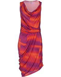 Halston Heritage Kneelength Dress - Lyst