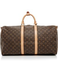 Vintage Louis Vuitton 55cm Monogram Keepall Bandouliere From What Goes Around Comes Around - Lyst