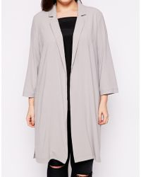 AX Paris - Plus Duster Coat With 3/4 Sleeves - Lyst