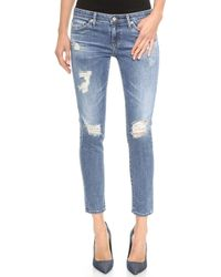 Ag Adriano Goldschmied The Stilt Cigarette Jeans 17 Year Riot - Lyst