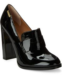 CALVIN KLEIN 205W39NYC - Kathryn Leather Loafer Court Shoes - Lyst