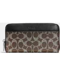 Coach Accordion Wallet In Signature Canvas - Lyst