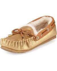 Tory Burch Maxwell Shearling-lined Moccasin - Lyst