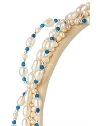 Masterpeace - Lodestar Pearls And Faux-Leather Headband - Lyst