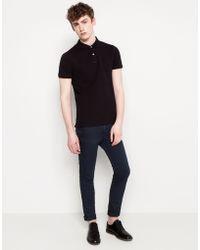 Pull&Bear Print Short Sleeved Polo Shirt - Lyst
