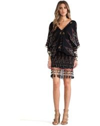 Indah Bayan Fringed Mini Dress - Lyst