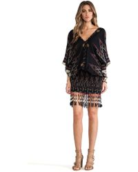 Indah Bayan Fringed Mini Dress multicolor - Lyst