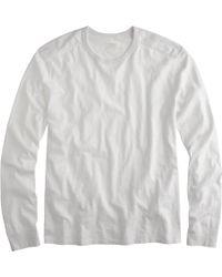 J.Crew Tall Long-Sleeve Textured-Cotton Tee - Lyst