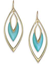 Alexis Bittar Coral Deco Lucite Orbit Drop Earrings/Blue - Lyst