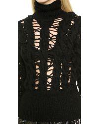 KTZ - Crochette Long Sleeve Sweater - Black - Lyst