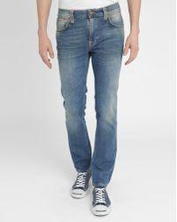 Nudie Jeans Average Joe Straight Leg Faded Organic Jeans - Lyst