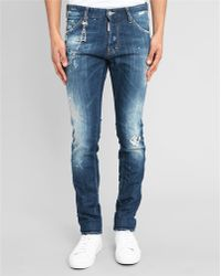 DSquared² Cool Guy Chain Destroy Jeans - Lyst