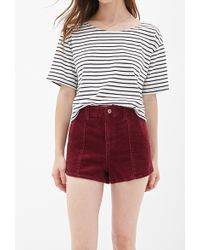 Forever 21 Highwaisted Corduroy Shorts - Lyst