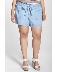Jessica Simpson | Petra Tie-Front Shorts | Lyst