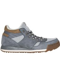 New Balance   gray Lace-Up Suede Sneakers    Lyst