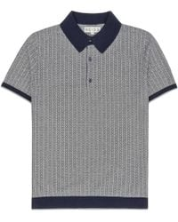 Reiss Larry Contrast Pattern Polo - Lyst