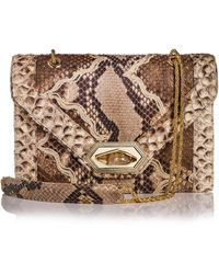 Marchesa Daphne Python Envelope Shoulder Bag - Lyst