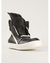 Rick Owens Monochrome Hitop Sneakers - Lyst