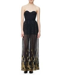 Sass & Bide Sonic Boom Long Skirt French Navygold - Lyst