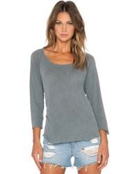 James Perse Inside Out Raglan Tee gray - Lyst