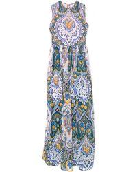 MSGM Long Silk Paisley Dress - Lyst