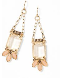 Ann Taylor Crystal Cluster Drop Earrings - Lyst
